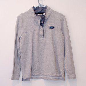 L.L Bean Women's Soft Cotton Rugby Shirt-LG Petite